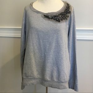 Oversized Embellished Ella Moss  top Sz. S